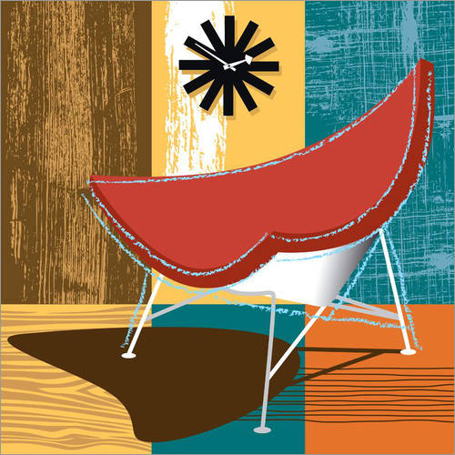 Muursticker Lounge Chair II