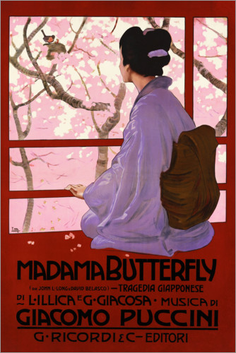 Premium poster Puccini, Madame Butterfly
