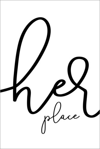 Premium poster Her place