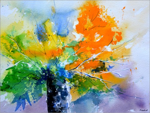Premium poster Colorful, abstract bouquet