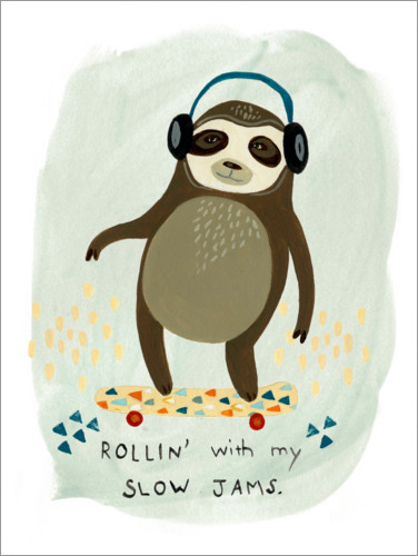 Premium poster Hipster sloth II