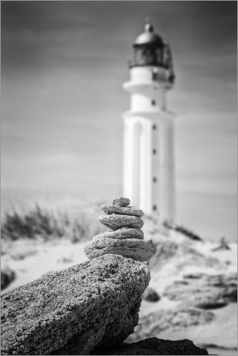 Premium poster Lighthouse on the beach