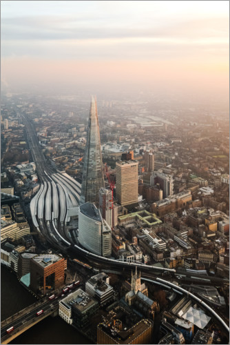 Premium poster The Shard at sunset from the top, London, UK