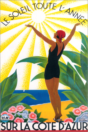 Premium poster On the French Riviera (French)