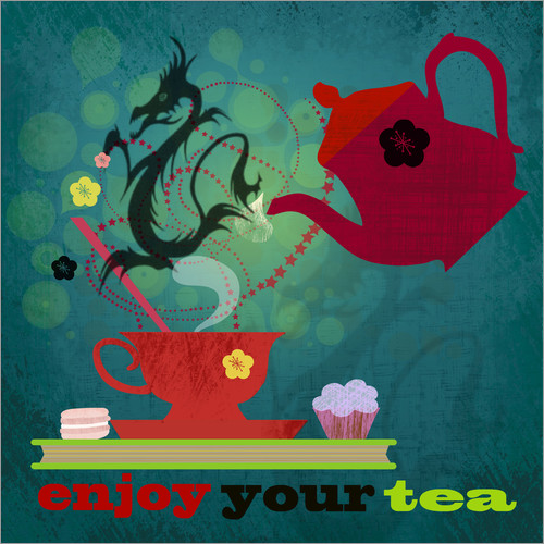 Muursticker Enjoy your tea