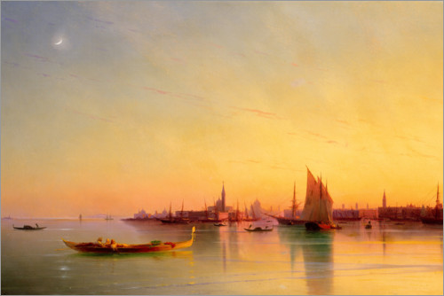 Premium poster Sunset in the bay of Venice