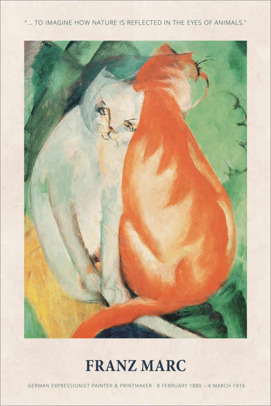 Premium poster Franz Marc - In the eyes of animals