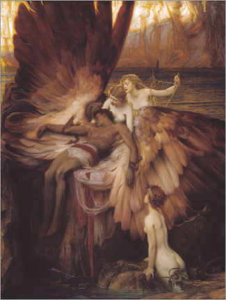 Acrylglas print  Mourning for Icarus - Herbert James Draper