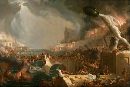 Aluminium print  The Course of Empire - Destruction - Thomas Cole