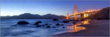 Aluminium print  San Francisco Golden Gate Bridge at sunrise - Jan Christopher Becke