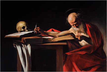 Canvas print  Saint Gerome Writing - Michelangelo Merisi (Caravaggio)
