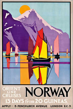 Aluminium print  Orient Line Cruises Norway - M.V. Jones