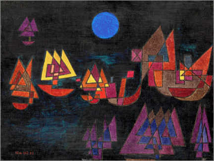 Aluminium print  Ships in the dark - Paul Klee