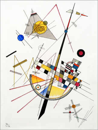 Canvas print  Fijne spanning - Wassily Kandinsky
