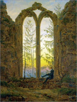 Acrylglas print  The Dreamer - Caspar David Friedrich