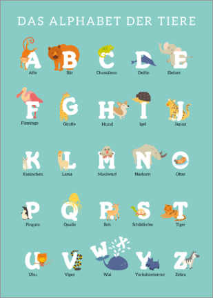 Canvas print  Animal Alphabet (German) - Kidz Collection