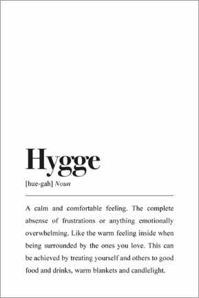 Acrylglas print  Hygge definitie (Engels) - Pulse of Art