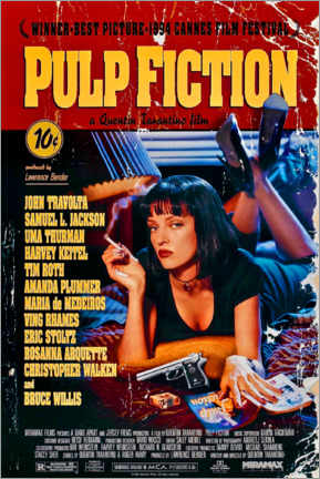 Canvas print  Pulp Fiction (Engels) - Entertainment Collection
