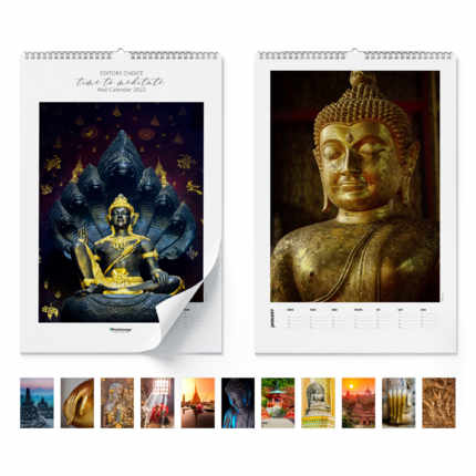 Wandkalender  Time to meditate 2021