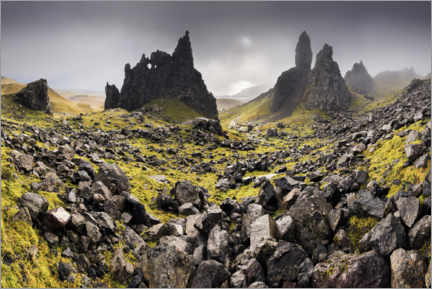 PVC print  The Old Man of Storr in autumn - The Wandering Soul