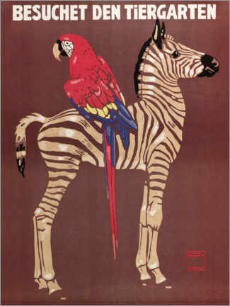 Acrylglas print  Visit the zoo (German) - Ludwig Hohlwein