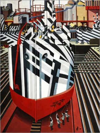 Premium poster Dazzle-ships in Drydock at Liverpool