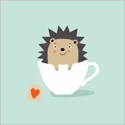 Canvas print  Cups of hedgehogs - Julia Reyelt
