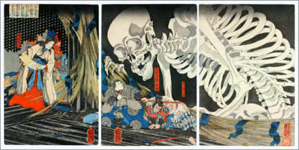 Canvas print  Takiyasha the Witch and the Skeleton Spectre - Utagawa Kuniyoshi