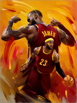 Canvas print  LeBron James - Dmitry Belov