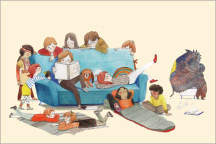 Gallery print  Read-aloud time - Claudia Burmeister