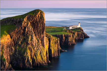 Acrylglas print  Neist Point lighthouse, Isle of Skye - Arnold Schaffer