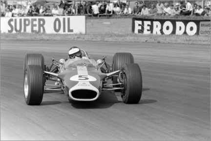 Acrylglas print  Jim Clark, Lotus 49 Ford, Silverstone UK, 1967