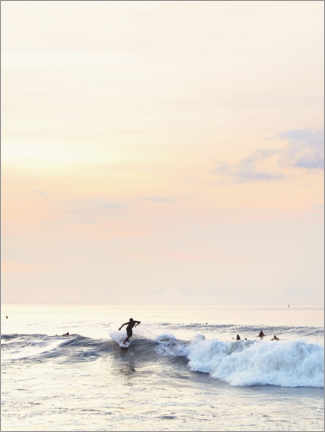Premium poster Surfer in the sunset