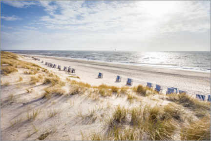 Acrylglas print  Beach chairs on Sylt beach - Christian Müringer