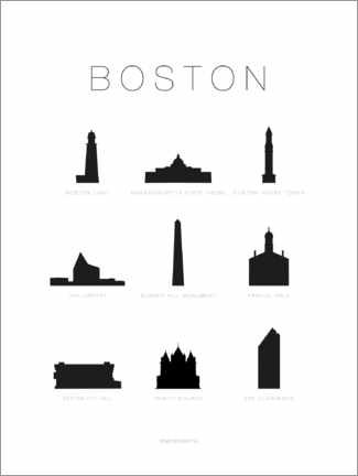 Acrylglas print  Boston - Schumff