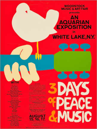 Aluminium print  Woodstock Festival - Entertainment Collection