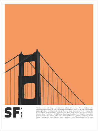 Acrylglas print  Attractions in San Francisco - Finlay and Noa
