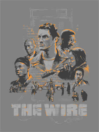 Premium poster  The Wire - The Usher designs