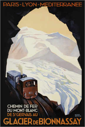 Canvas print  Mountain railway on Mont Blanc - Advertising Collection
