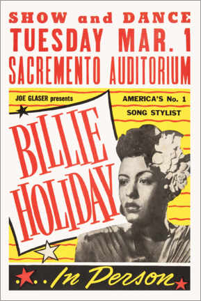 PVC print  Billie Holiday - Advertising Collection