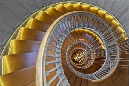 Gallery print  Ancient Spiral Staircase - Dieter Meyrl