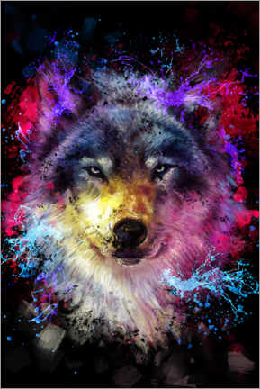 Acrylglas print  Wolf - Dmitry Belov