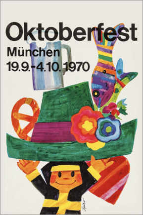 Acrylglas print  Oktoberfest 1970 - Travel Collection