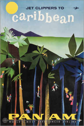Acrylglas print  Caribbean via Pan Am - Travel Collection