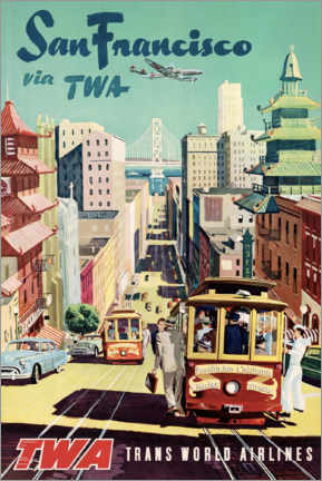 Acrylglas print  San Francisco via TWA - Travel Collection