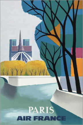 Acrylglas print  Notre Dame on the Seine - Travel Collection
