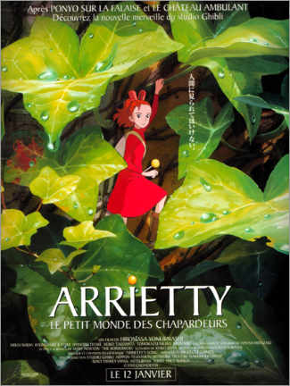 Canvas print  Arrietty the Borrower (French) - Entertainment Collection