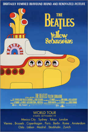 Hout print  The Beatles - Yellow Submarine - Entertainment Collection