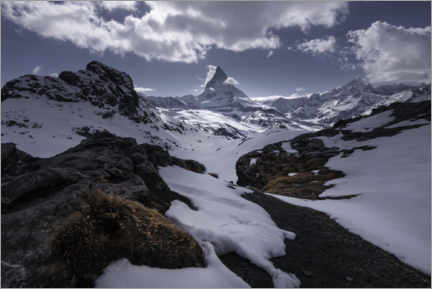 Gallery print  Matterhorn in the Swiss Alps near Zermatt - Christian Möhrle