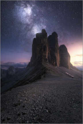 Gallery print  Three peaks in the Dolomites - Christian Möhrle